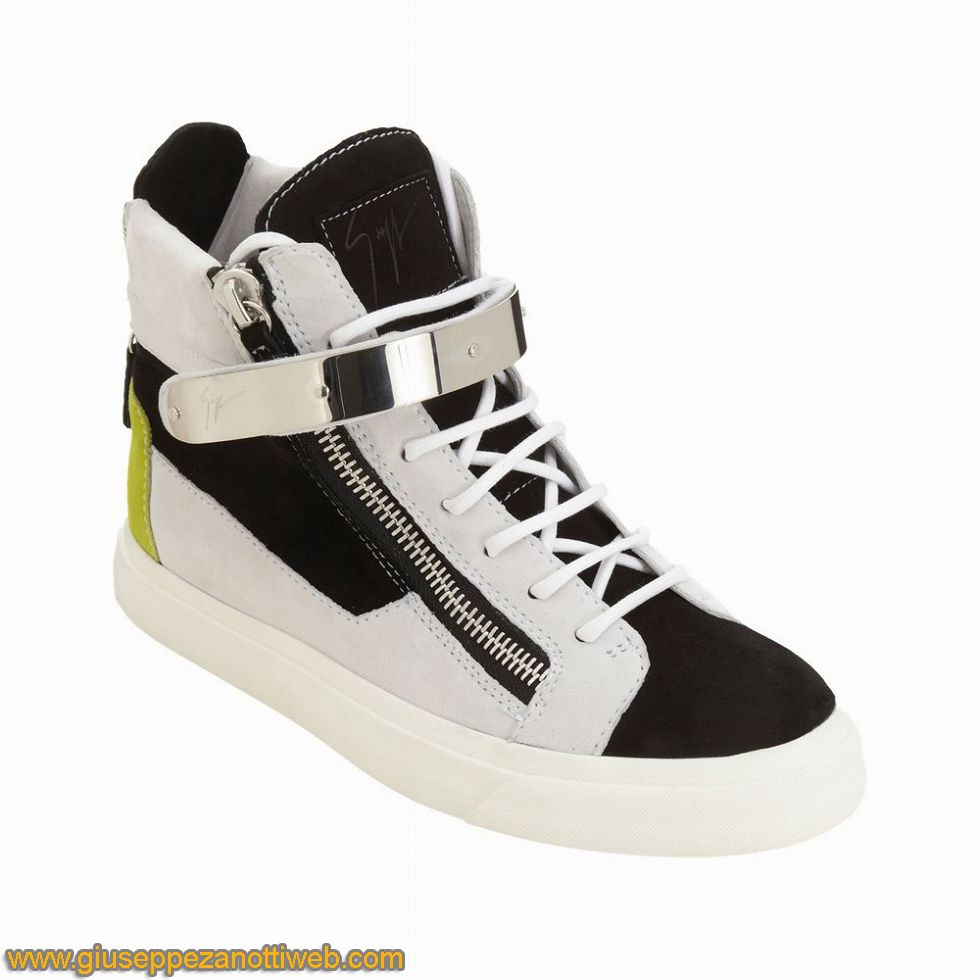 Men-Giuseppe-Zanotti-High-Top-Buckle-Sneakers-Triple