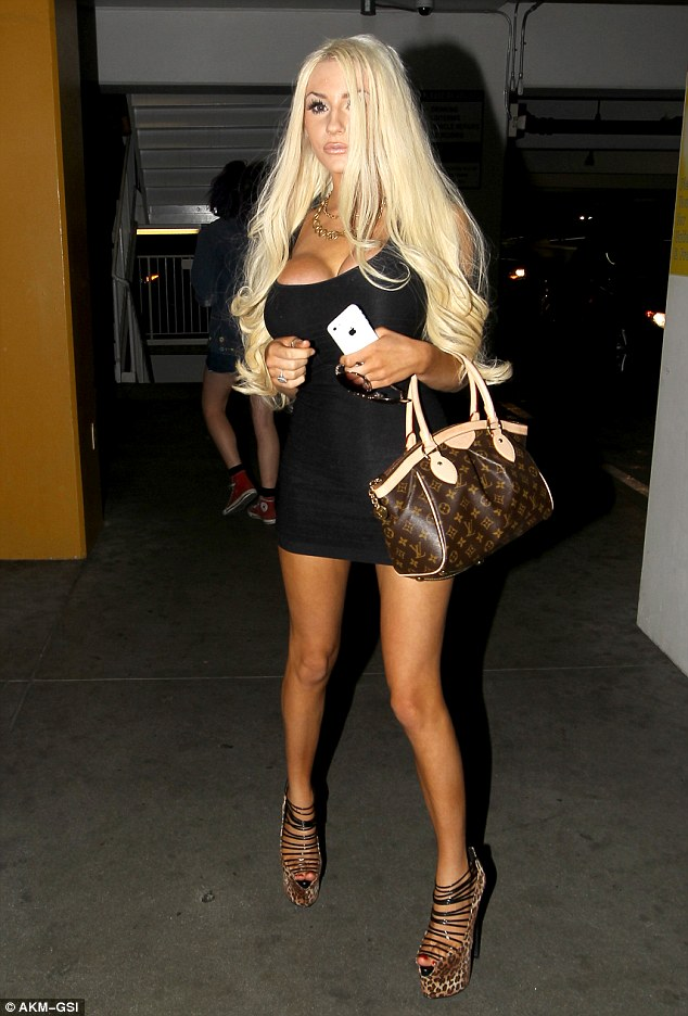 courtney stodden in leopard print booties shoes post
