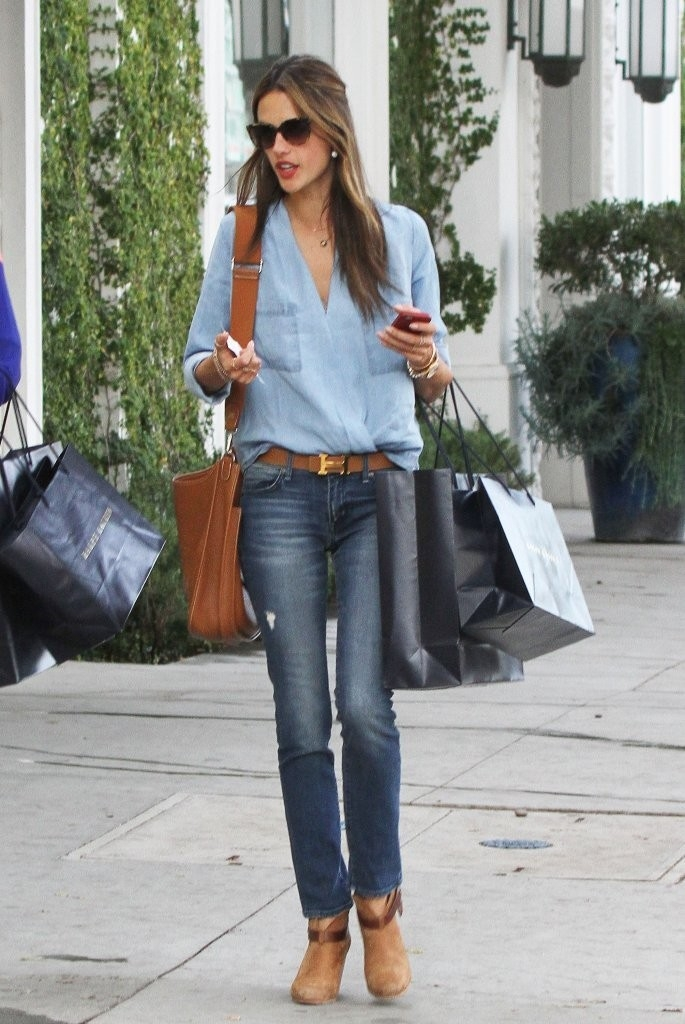 Double Denims Or Fresh From The Yoga Look Alessandra