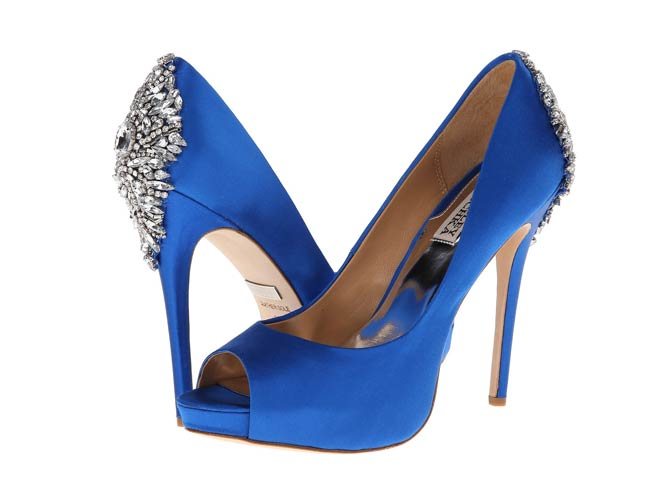 Badgley Mischka Blue Satin Shoes