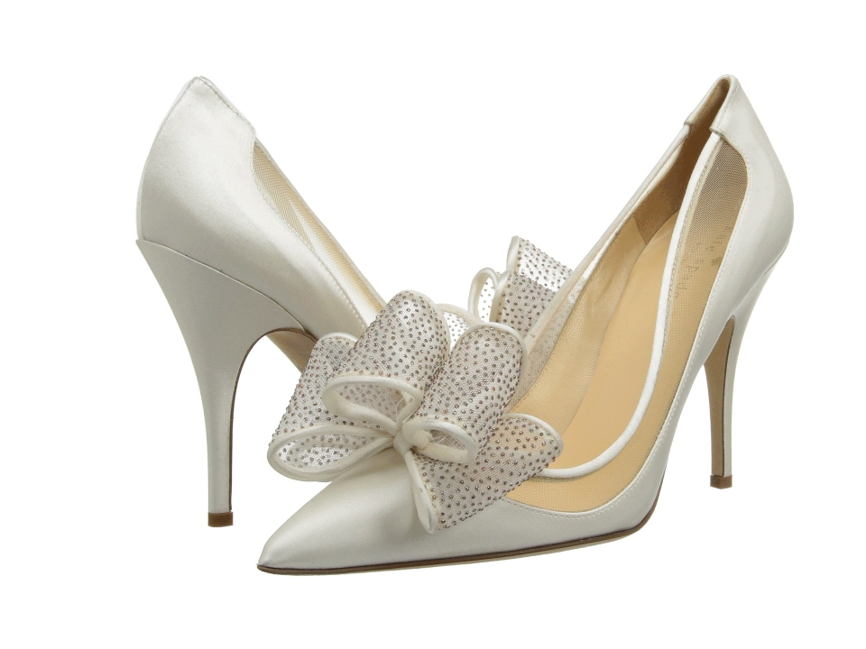Kate Spade White Satin Shoes