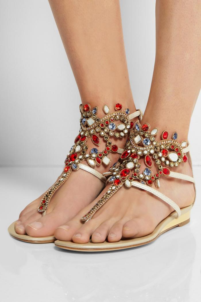 RENé CAOVILLA Leather sandal xM00cVM