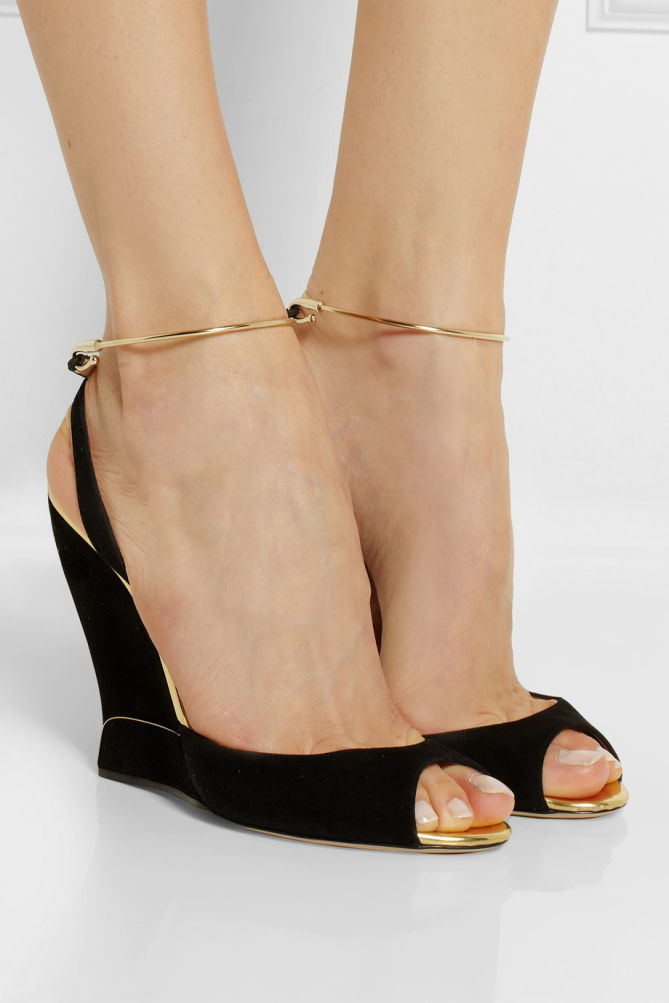 Paul Andrew Delphi Wedge Sandals Shoes Post
