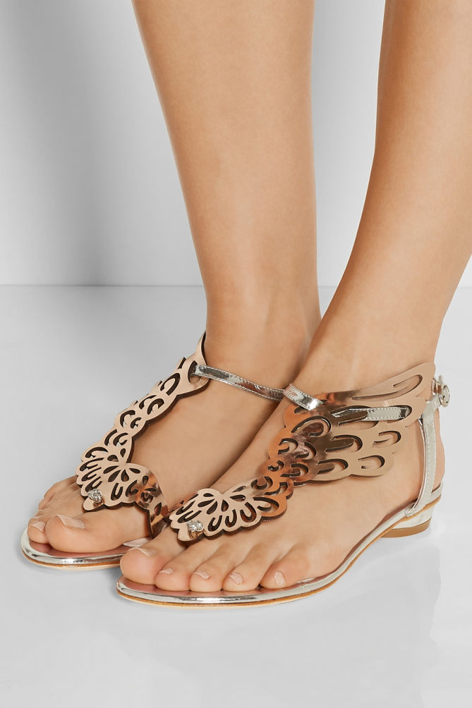 Sophia Webster Seraphina Mirrored Leather Sandals Shoes Post