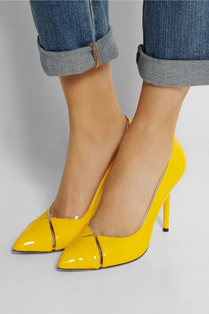 Charlotte Olympia Leather-Trimmed PVC Pumps wide range of sale online find great for sale outlet low shipping fee GchHURqLW