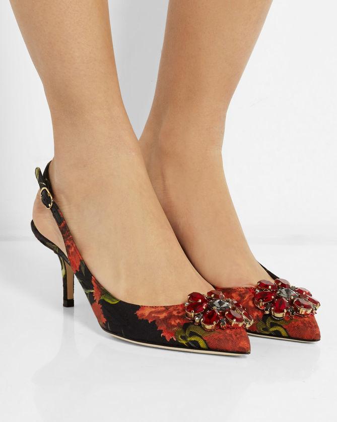 Dolce & Gabbana Embellished Floral Pumps buy sale online outlet deals ROFbG