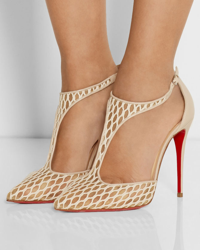 e322d698c09 CHRISTIAN LOUBOUTIN Salonu 100 Embroidered Mesh and Leather Pumps ...