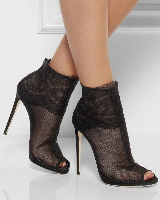 Dolce & Gabbana Lace High Heel Boots