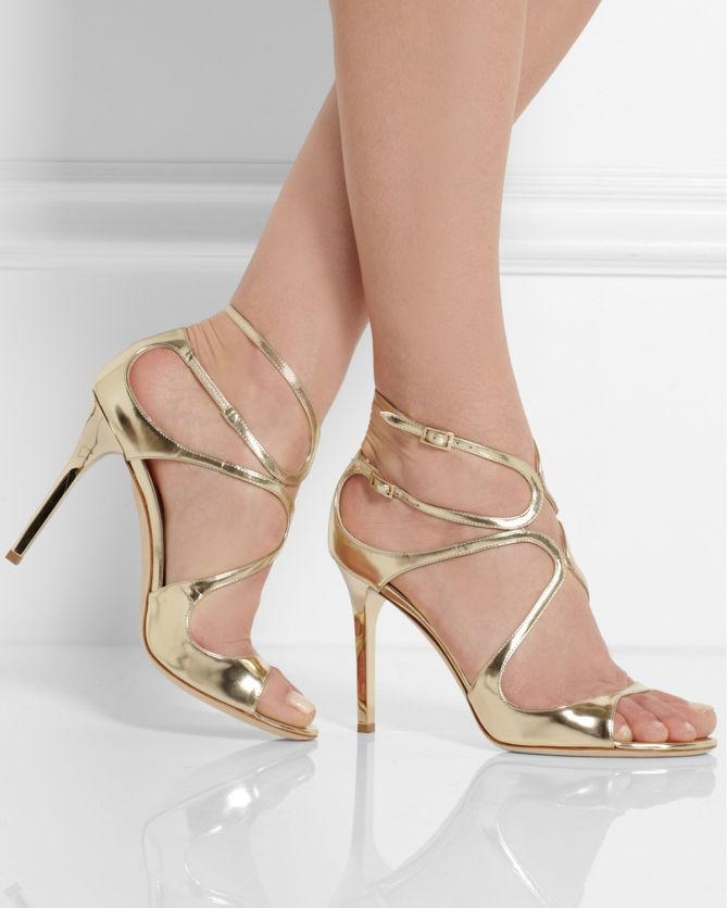My jimmy choo high heels amp nylon covered feet upskirt