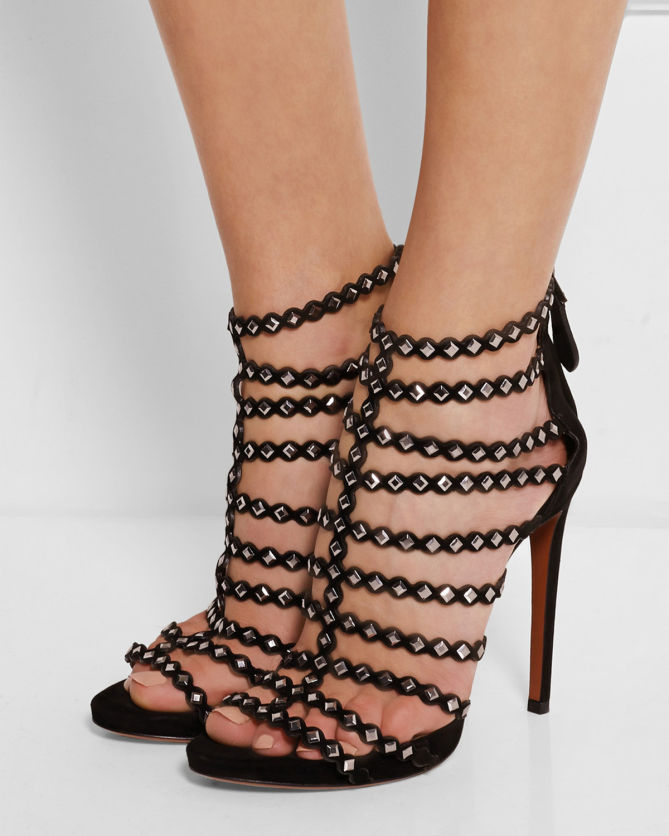 Alaïa Laser Cut Studded Sandals looking for online really sale online outlet amazing price iJXFnyMUt
