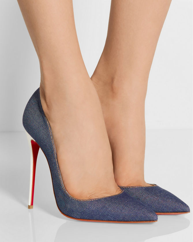 official photos 5e826 a5a26 CHRISTIAN LOUBOUTIN So Kate 120 Denim Pumps - Shoes Post