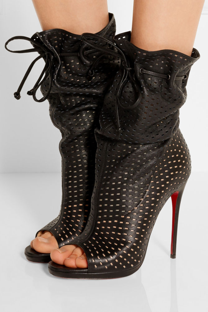 christian louboutin jennifer perforated leather boots