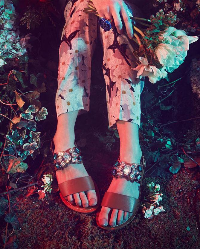 aa8550240 Marni Jeweled Leather Sandals - Shoes Post