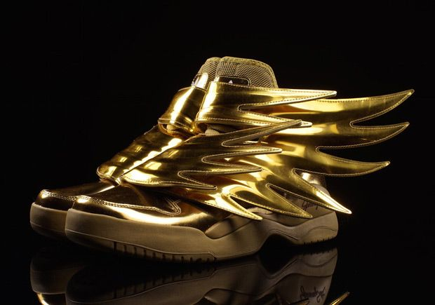 jeremy scott x adidas sneaker strikes gold shoes post