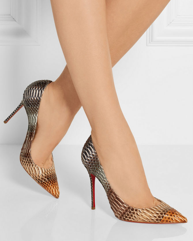 cf5b19d6a196 CHRISTIAN LOUBOUTIN Décolleté 100 Snake Pumps - Shoes Post