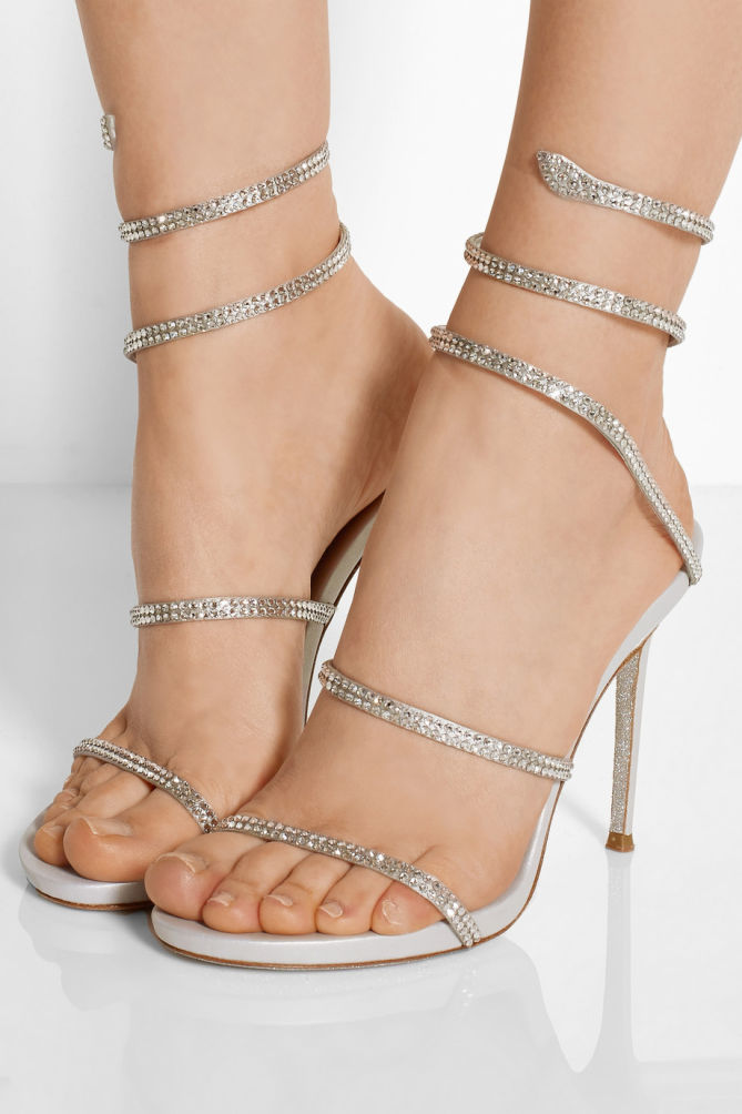 RENé CAOVILLA Crystal embellished sandals