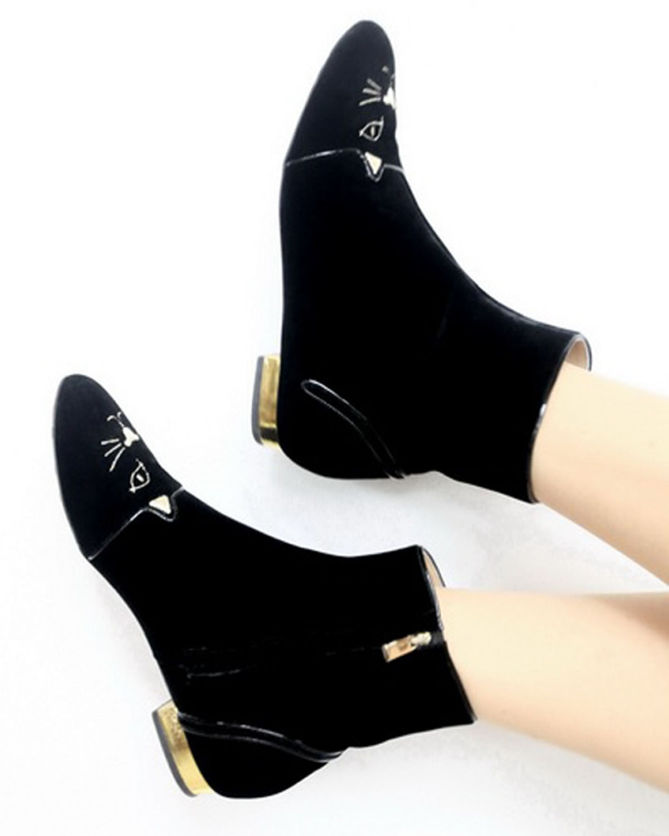 Charlotte Olympia Puss In Boots Ankle Boots amazon cheap online sale high quality BUm65f