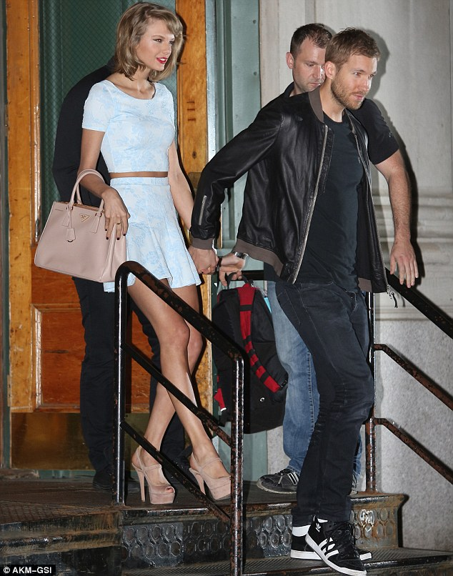 9f75d4d978ca8b Taylor Swift Showcases Legs as She Holds Hands with Calvin Harris ...