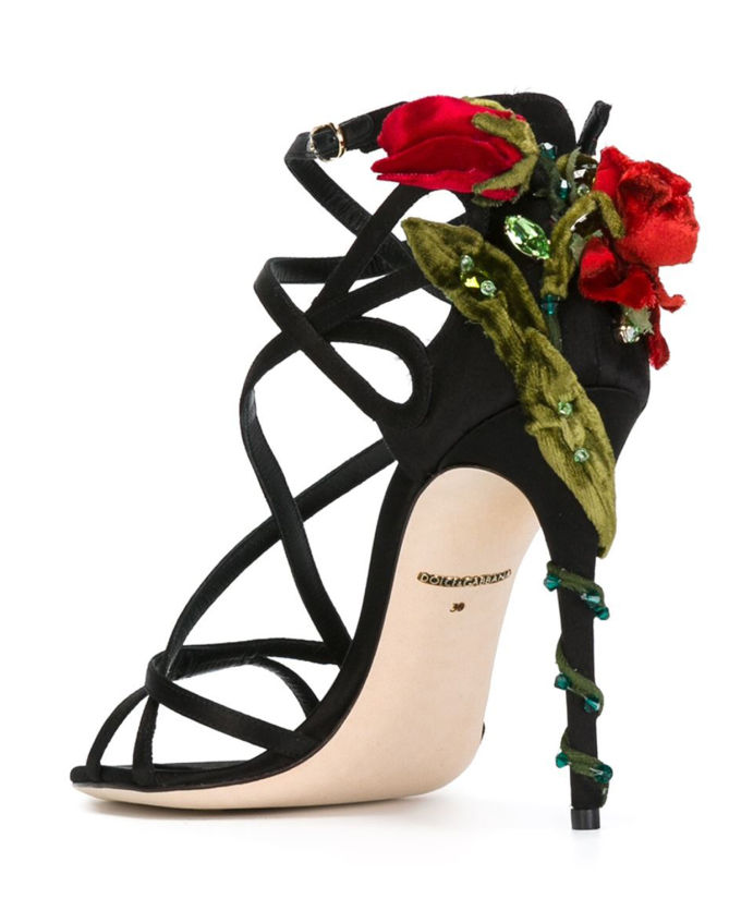 Dolce Amp Gabbana Climbing Rose Sandals Shoes Post