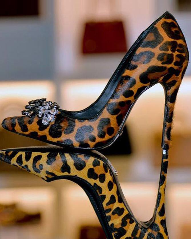 018448186 SCHUTZ PUMPS CARRIE ANIMAL PRINT - Shoes Post