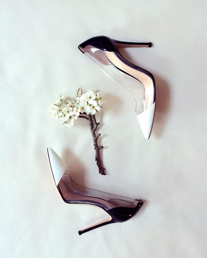d049fa8406fbb Gianvito Rossi Black and White Plexi Pump - Shoes Post