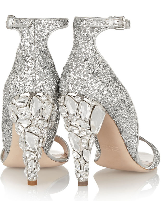 db4ac0adb47a MIU MIU Swarovski crystal-embellished Glittered Leather Sandals ...