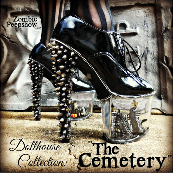 Dollhouse Collection Quot The Cemetery Quot Miniature Goth Spike