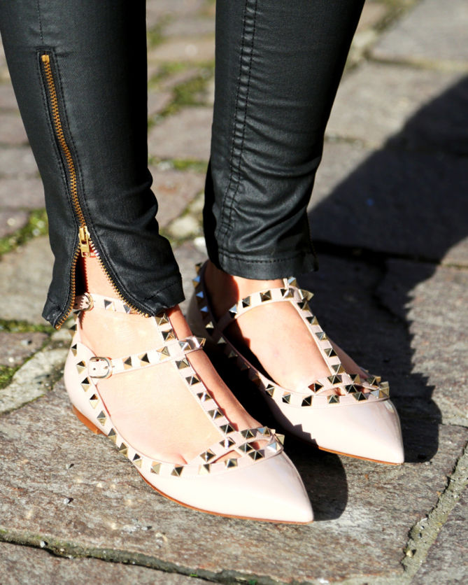 Garavani Rockstud leather ballerinas Valentino