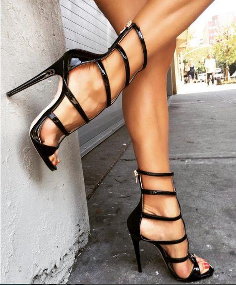 Hot gold gladiator sandals candid feet - 2 1