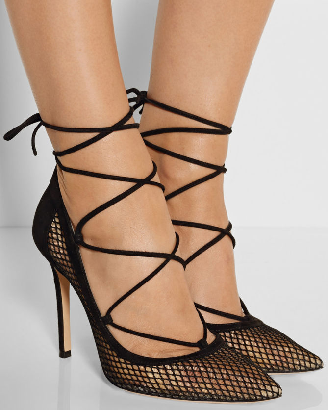 Gianvito Rossi Suede Lace-Up Pumps buy online with paypal wyfyAkjla7