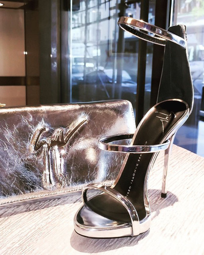 bac5aafd47dd3 Giuseppe Zanotti Women's Metallic Strappy Dress Sandal - Shoes Post