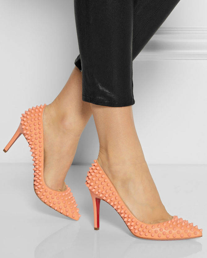 4ce9798eff5f CHRISTIAN LOUBOUTIN Pigalle Spikes 85 Leather Pumps - Shoes Post