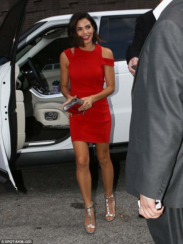 Red Dress With Rose Gold Shoes