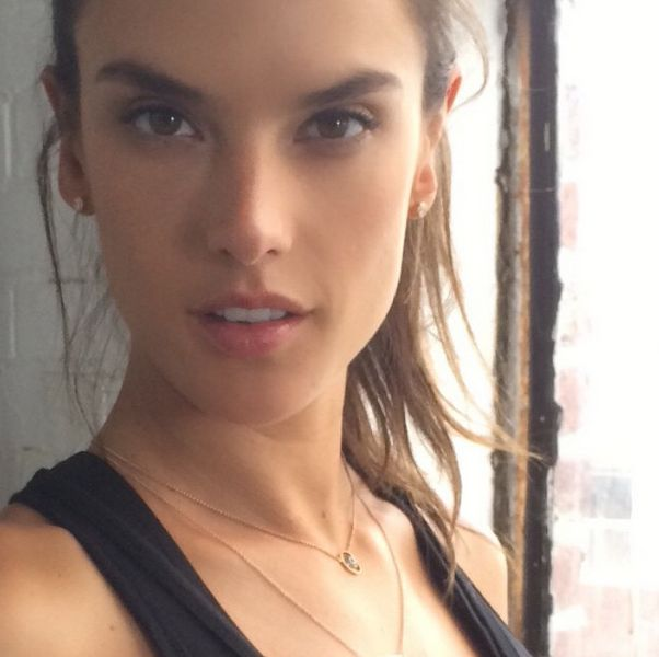 Alessandra Ambrosio Exposes Toned Legs in Studded Wedges - Shoes Post Alessandra Ambrosio