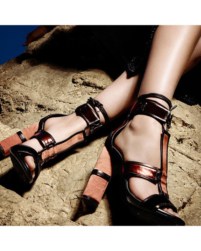978a513c0ad5 TOM FORD Patchwork Leather Cage Sandal