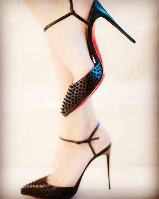 81fca1cf66d CHRISTIAN LOUBOUTIN Baila Spiked Ankle-Strap Pumps - Shoes Post