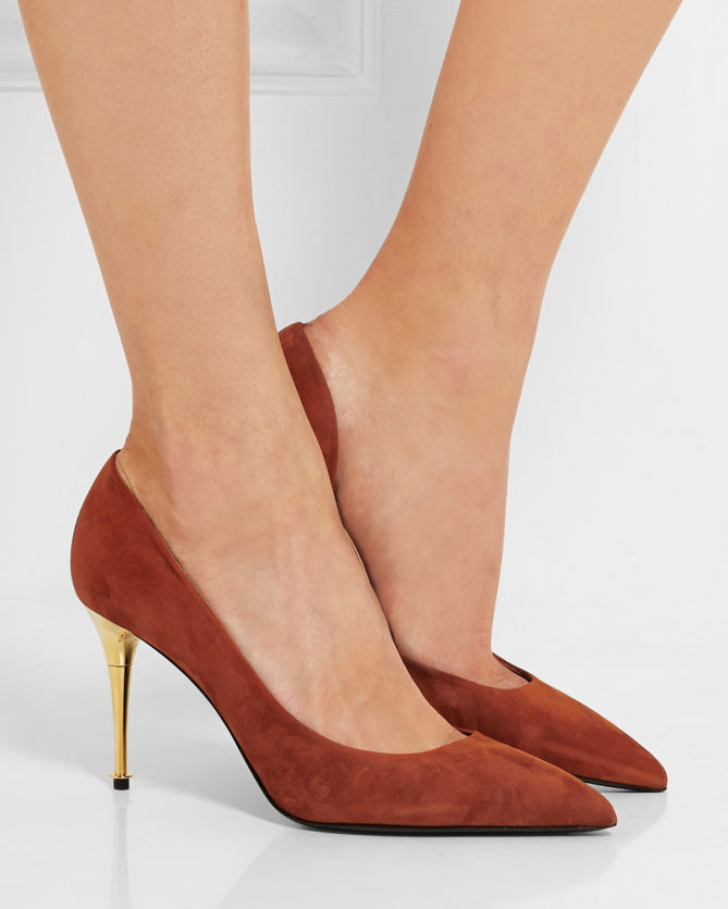 Tom Ford Suede Pointed-Toe Pumps cheap big discount clearance best wholesale W51Gtf7CS