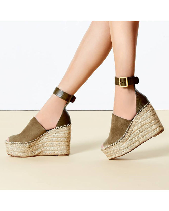 Chloé Suede and leather espadrilles QHuTZOfXsI