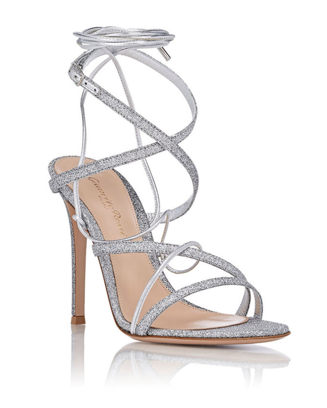 strappy glitter sandals - Metallic Sergio Rossi