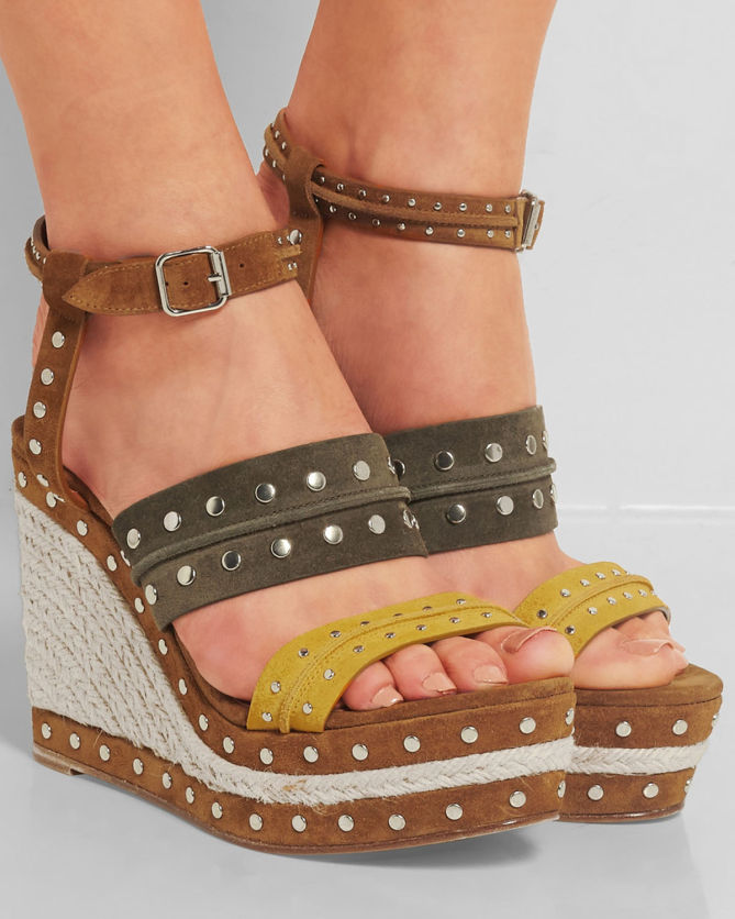 best online discount clearance store Lanvin Studded Wedge Espadrilles geniue stockist online shop from china agkvm
