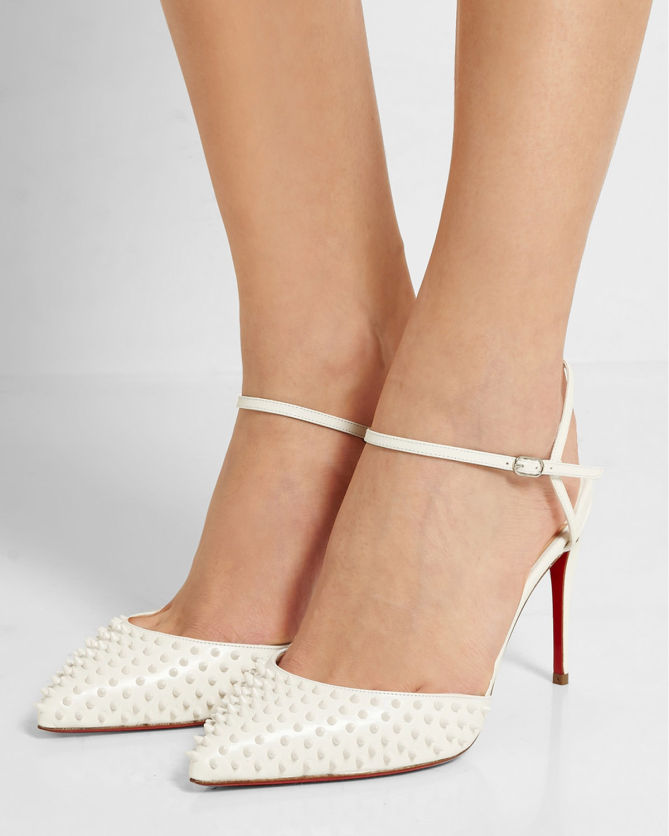 2fd3513c1d7 CHRISTIAN LOUBOUTIN Baila 85 spiked leather pumps - Shoes Post