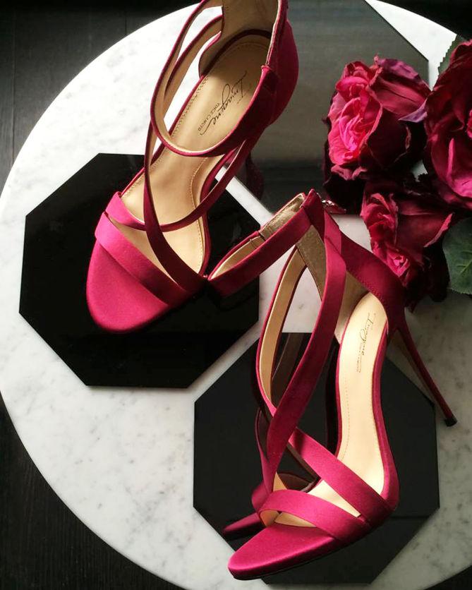 85599110ce0 Vince Camuto IMAGINE DEVIN- SATIN CRISSCROSS STRAP HIGH HEEL - Shoes ...