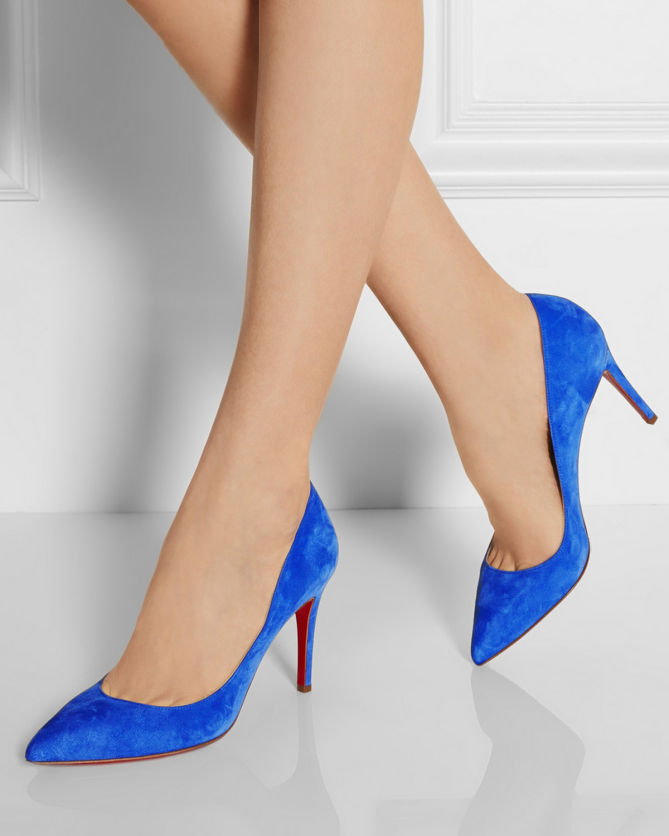 1145b491cc55 CHRISTIAN LOUBOUTIN Pigalle 85 suede pumps - Shoes Post