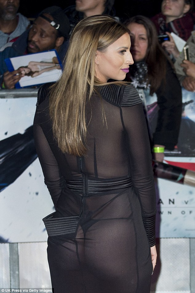 Ferne McCann Dares to Bare Her Butt at the Batman vs