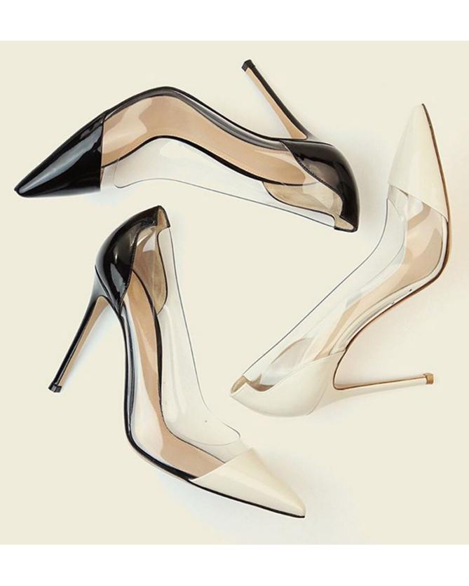 b613caff07 GIANVITO ROSSI 'Plexi' pumps - Shoes Post