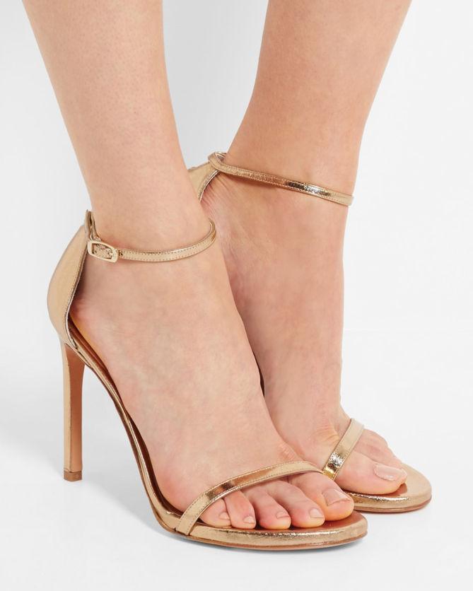 Nudistsong metallic sandals Stuart Weitzman qCmpt3