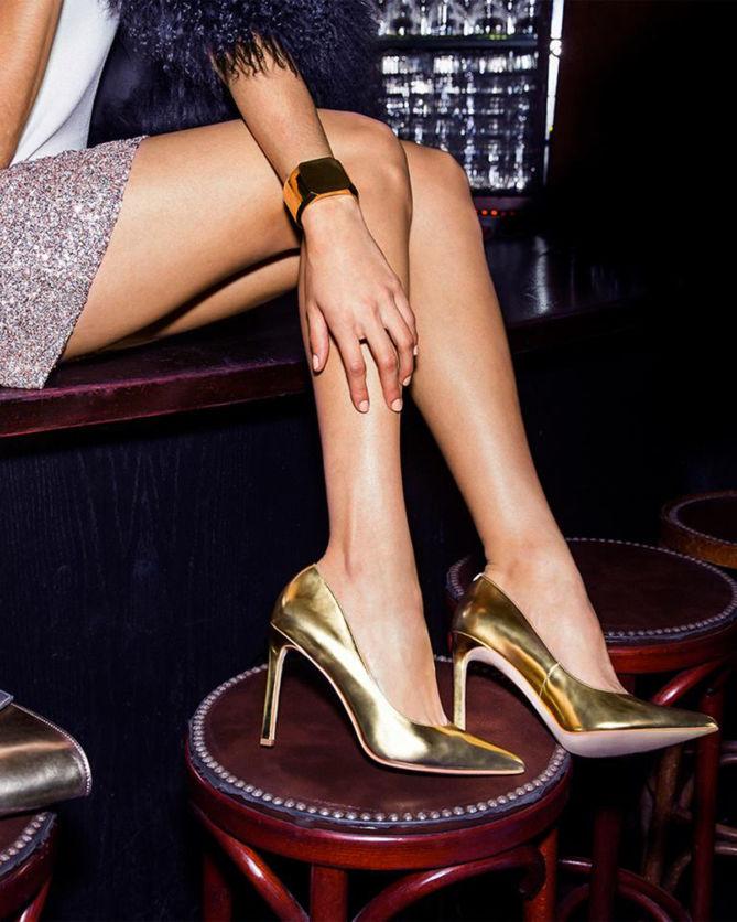 f0efefdc4 NINE WEST TATIANA POINTED TOE PUMPS, Gold - Shoes Post