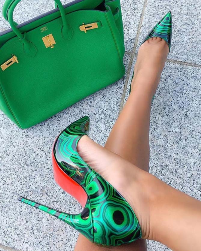 quality design 17037 7dce0 Christian Louboutin So Kate Marbled Red Sole Pump, Green ...