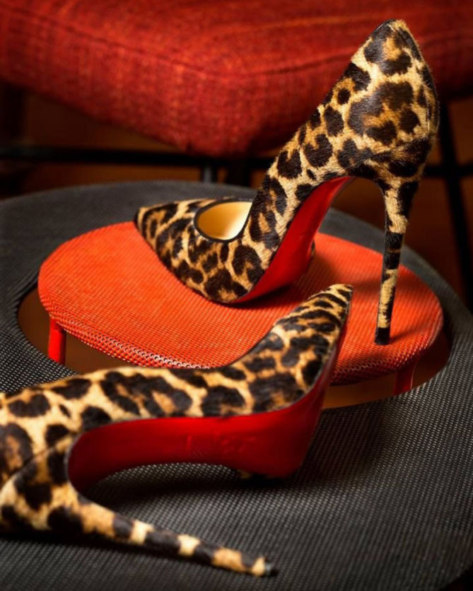 ff15ddfd134 CHRISTIAN LOUBOUTIN So Kate 120 leopard-print satin pumps - Shoes Post