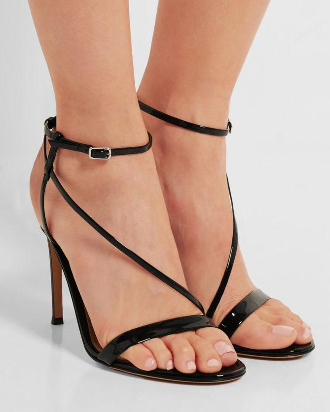 Gianvito Rossi Patent Leather Sandals